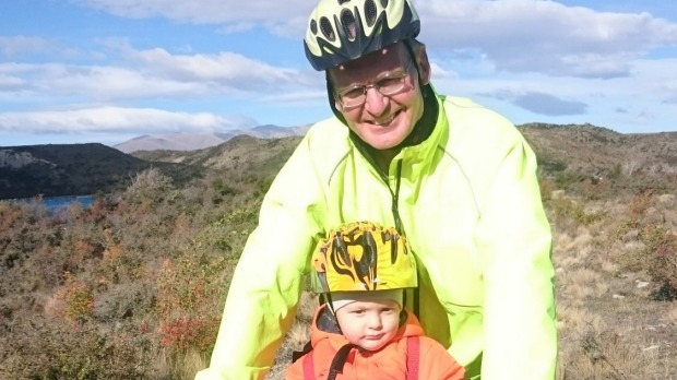 Don Babe is encouraging the community to get on their bikes, starting with his grandson, Max Dwyer.