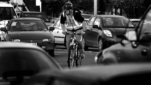 A cyclist was spat at after being nearly run off the road in central Christchurch last week. (Kirk Hargreaves)