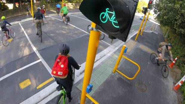 Almost everyone surveyed says they think the separated cycleways have improved their safety and comfort.  (Joseph Johnson / Stuff)