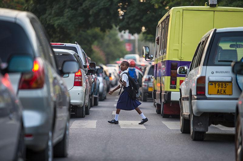children in traffic
