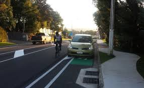 parking in the cycle lane