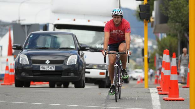 "New ""Copenhagen style"" cycle lanes are a nod to European mega centres (Joseph Johnson / Fairfax NZ)"