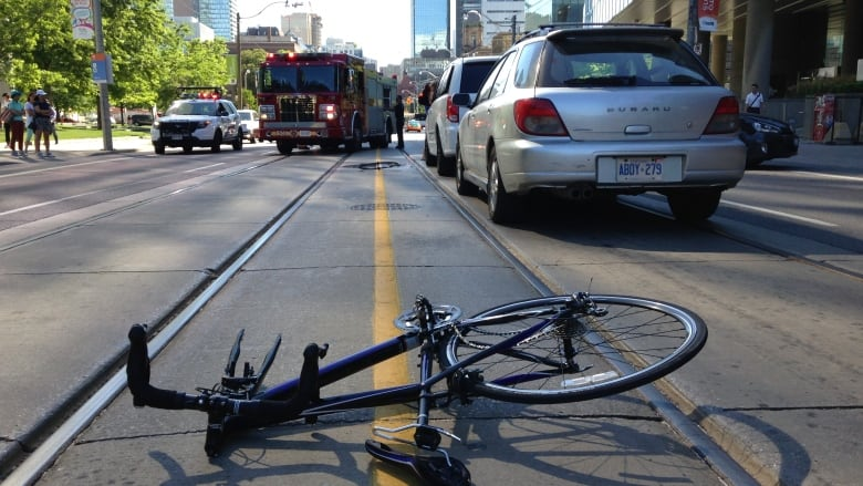 tram bike crash
